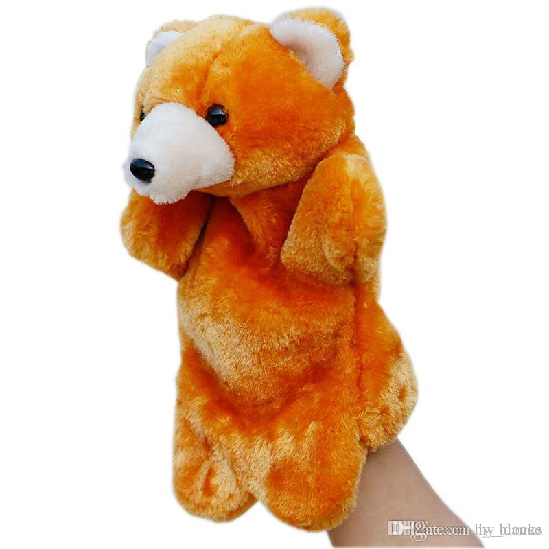 Animal Plush Hand Puppets Soft Toy Cartoon Dolls Puppets Plush Toys Baby Educational Stuffed Pretend Telling Story Doll Children Gifts