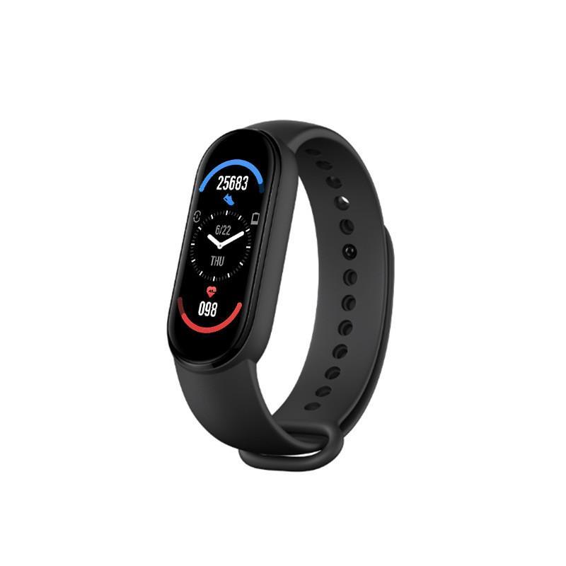 M6 Smart Braccialetti Braccialetto orologio Braccialetto Fitness Tracker Real Frequenza cardiaca Blood Pressure Monitor Colore schermo IP67 Impermeabile per lo sport con imballaggio al dettaglio