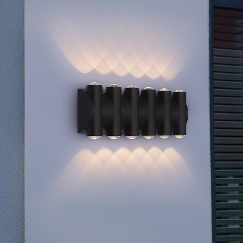 정원 야외 조명 IP65 방수 LED 벽 램프 듀얼 헤드 알루미늄 복도 현관 발코니 전면 도어 빛 램프