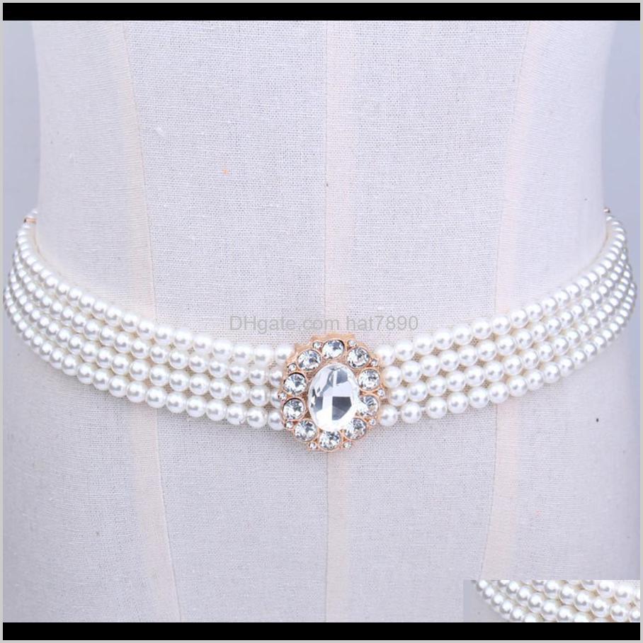 أحزمة عائلية الأزياء ديزريزالبيلت لؤلؤة مطاطا إمرأة الماس الزخرفية رقيقة الخصر سلسلة i6vt انخفاض التسليم 2021 تيربن