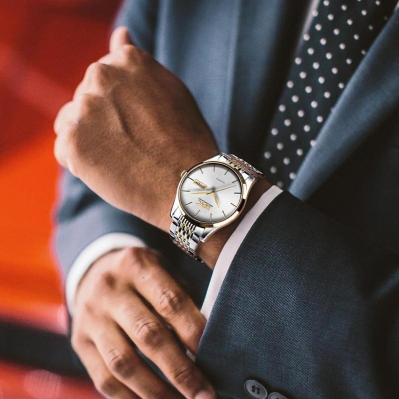 Armbanduhren 39mm Zifferblatt Herren Armbanduhr Wasserdichte Mode Business Ultradünne Kalender Diamant Einfache Quarzuhre für Paar Geschenk
