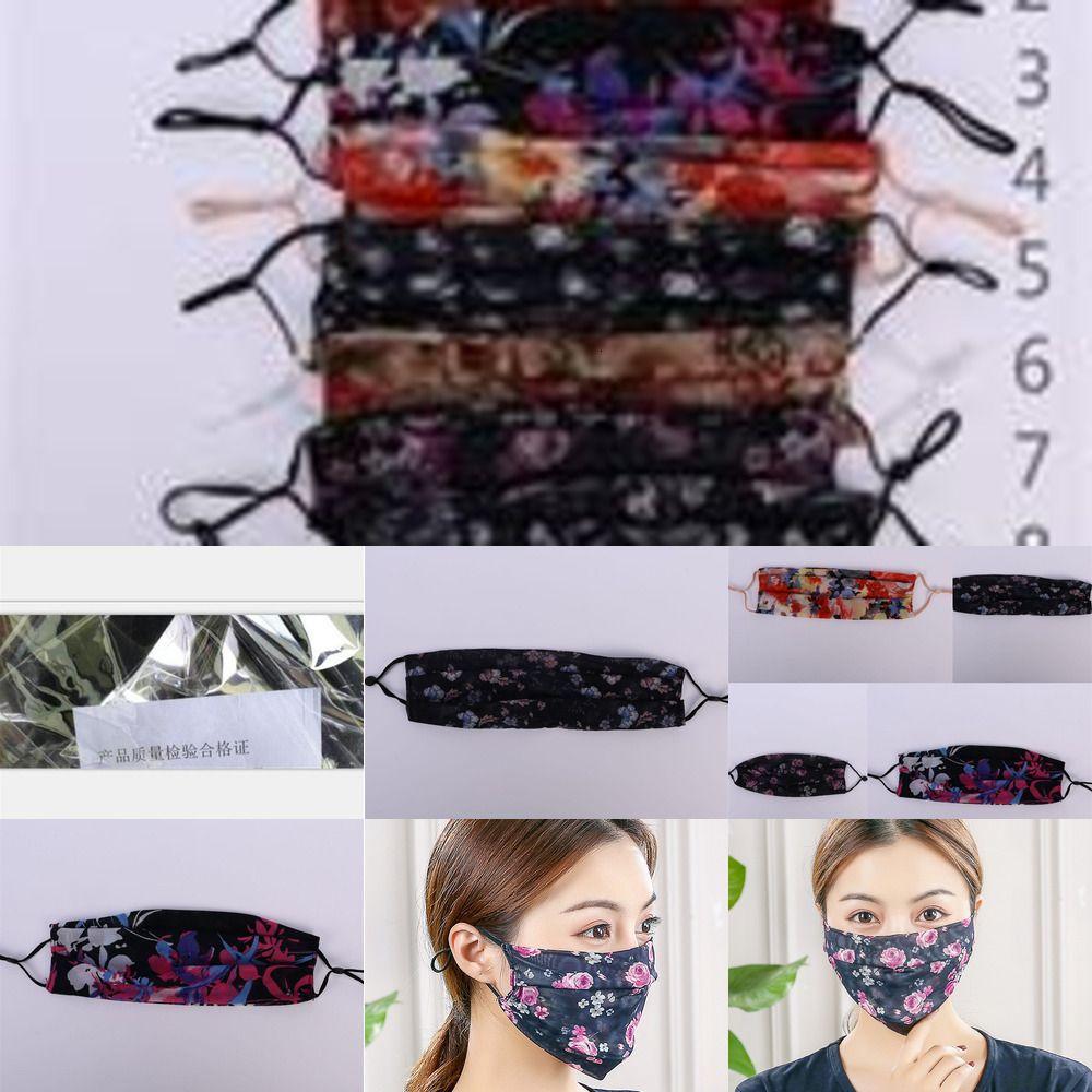 Солннепроницаемый рот Мастерн анти пыль Респираторы респираторы дышащие шифоновые маски для лица защитная леди Двойная палуба мода Clow1