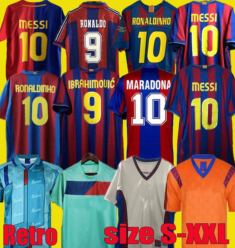 82 84 91 92 96 97 98 99 Ronaldinho Stoititchkov Barca Retro Soccer Jerseys 10 11 12 14 15 Camiseta Messi Ronaldo Guardiola Rivaldo Futebol Camisetas Xavi 04 05 06 07 08 09