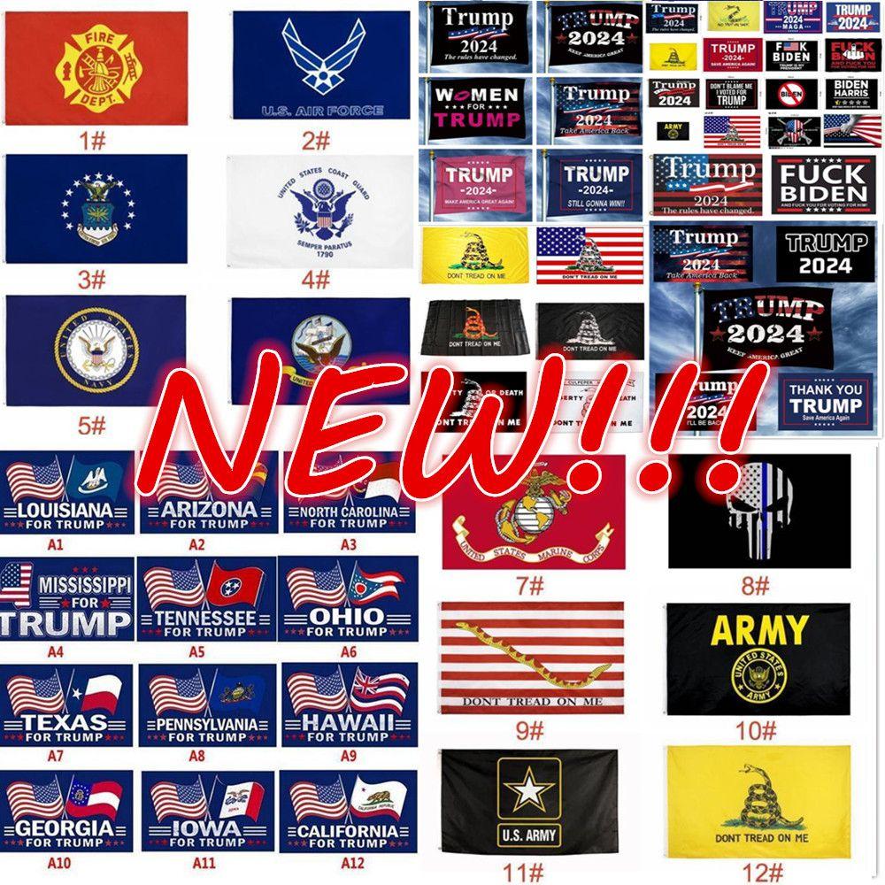 새로운 100 디자인 직접 공장 3x5 FT 90 * 150 cm 2024 대통령 미국 DHL 빠른 배를위한 미국의 트럼프 선거 국기