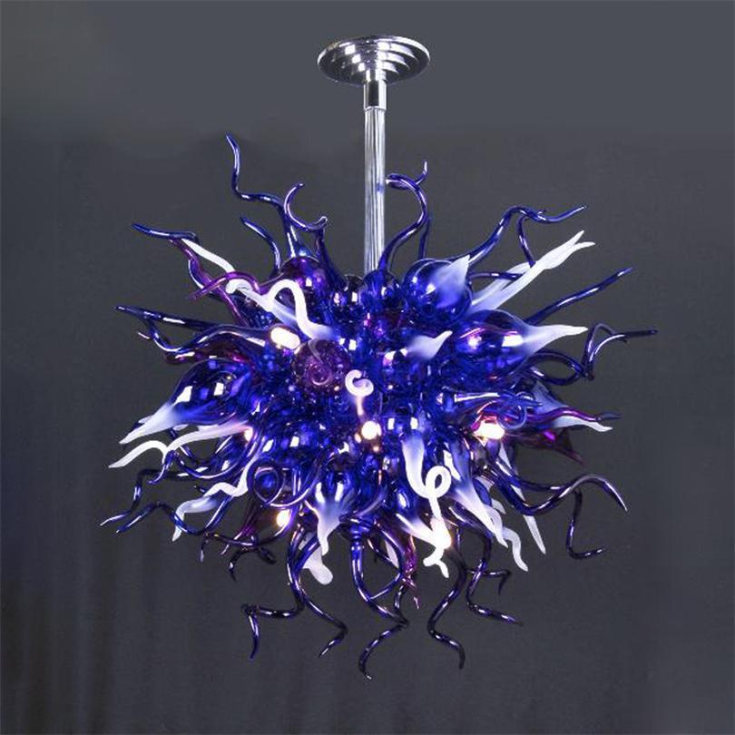 Modern üretici doğrudan mağaza kolye lambaları yatak odası renkli kristal avizeler ışık dubleks bina oturma odası led ışıkları fikstür yüksek lamba 80 * 80 cm
