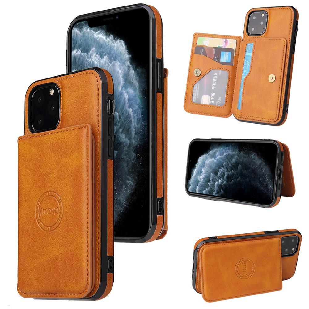 محفظة مغناطيسية فتحة بطاقة جلدية الحالات الهاتف المحمول لفون 13 12 11 برو ماكس XR XS 8 7 سامسونج غالاكسي S21 S20 بلس الترا A12 A32 A42 A52 A72 5G حالة الهاتف المحمول