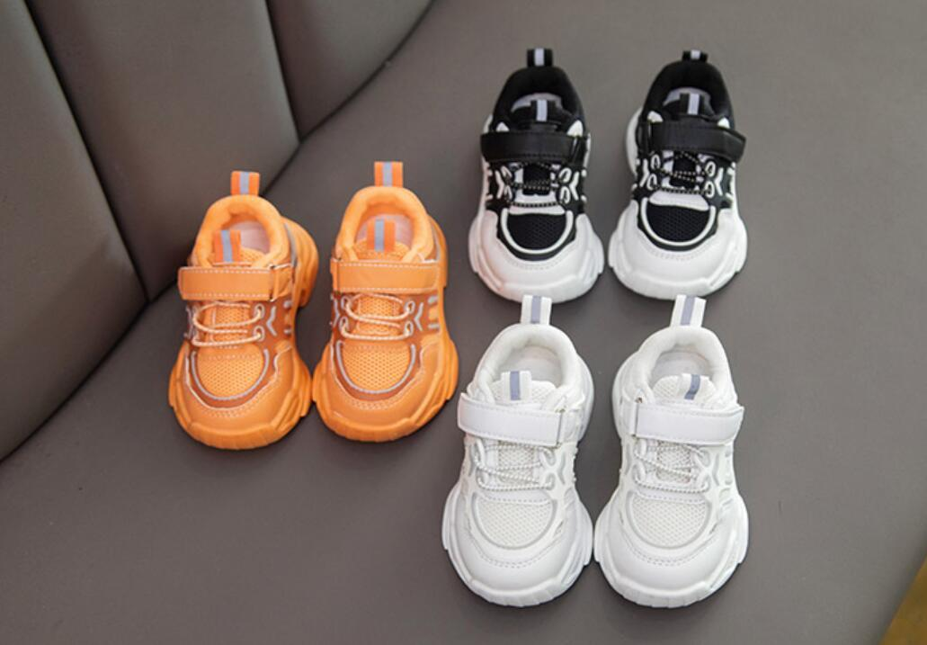 AOGT Autumn Baby Girl Boy Toddler Shoes Infant Casual Walkers Shoes Soft Bottom Comfortable Kid Sneakers Black White 201106