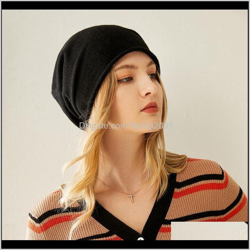 قبعة / جمجمة القبعات القبعات قبعات القبعات، والأوشحة قفازات الديكوراتينش الخريف 100percent بلون اللون الأزياء سوبر دافئ لينة نقية الكشمير قبعة المرأة ك