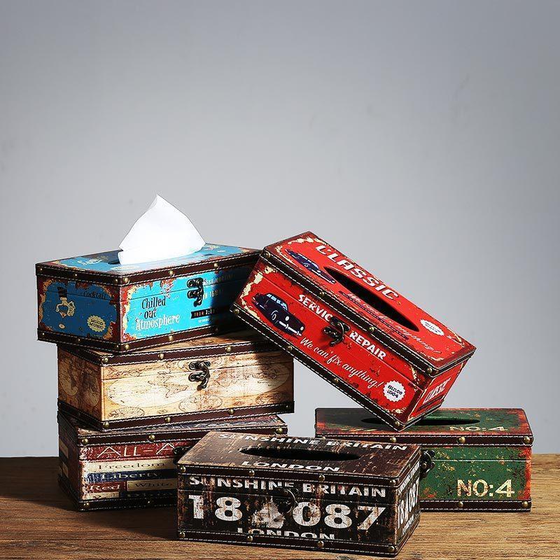 EL CAFE European-Pump-Tablett Restaurant Serviette Rechteckige Retro-kreative Tissue-Box-Geschenk-Wrap