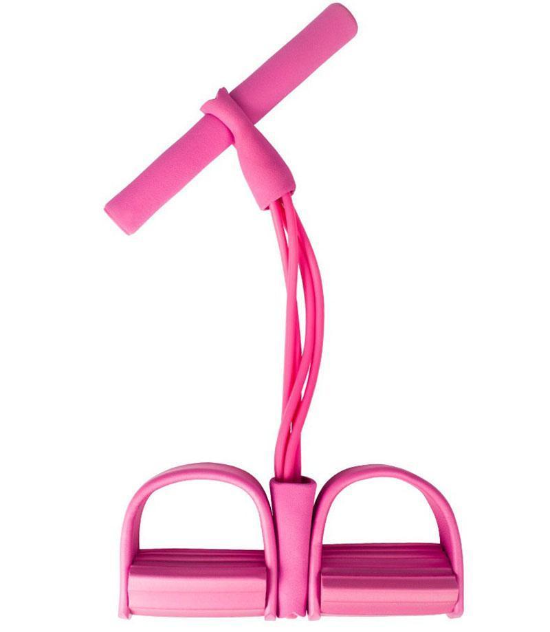 Home Workout Résistance au yoga Bande élastique Perte de graisse abdominale Pied Tirage de la forme de fitness TPE TPE TPE Poignée 4 chaînes Bandes de corde à tirer améliorées