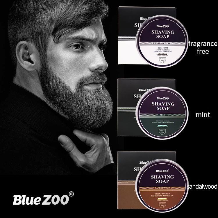 Bluezoo Hommes Soins du visage Shaving Barbonge Barbon Savon Mousse Savon Free Sanmoad Hairpulsion 60g