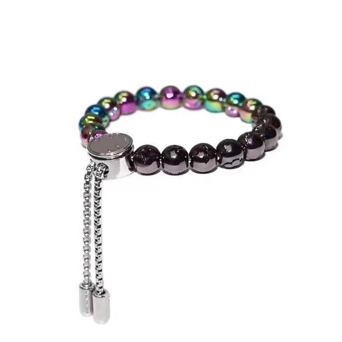 Mode einzigartige Design Runde Perle Armband für Paare, hochwertiges Titan-Stahl-Armband Trend-Matching-Angebot NRJ