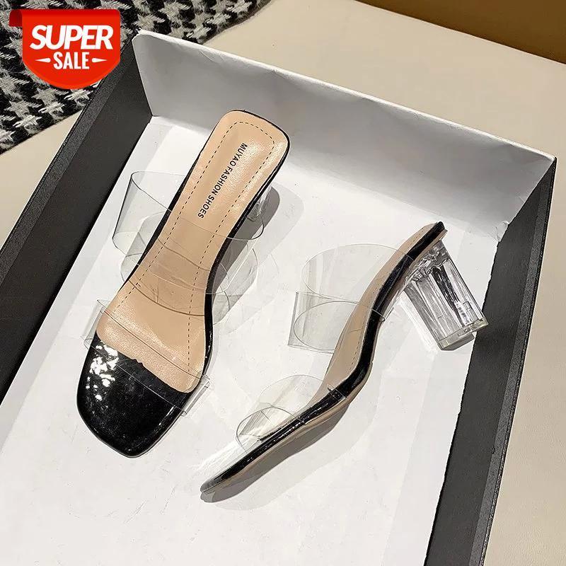 Women Sandals Clear Heels Slippers Summer Shoes Woman Transparent Pvc High Pumps Wedding Jelly Buty Damskie Elegant #Mw8x