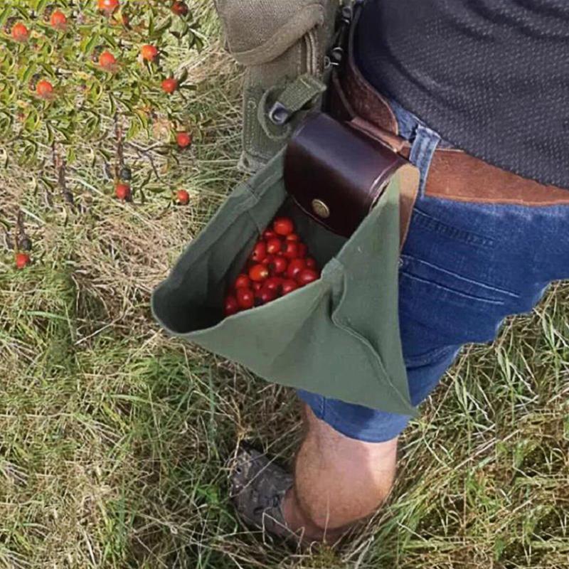 أكياس التخزين حقيبة bushcraft الجلود قماش التسوق الحقيبة للمشي الكنوز الصدف السهل حلقات