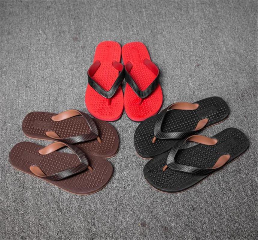Sandales d'été pour hommes et pantoufles Sandales d'été Beach Massage Mode Porter des chaussures plats Amouflage Soft confortable lumière respirante Rencontres occasionnels taille40-45