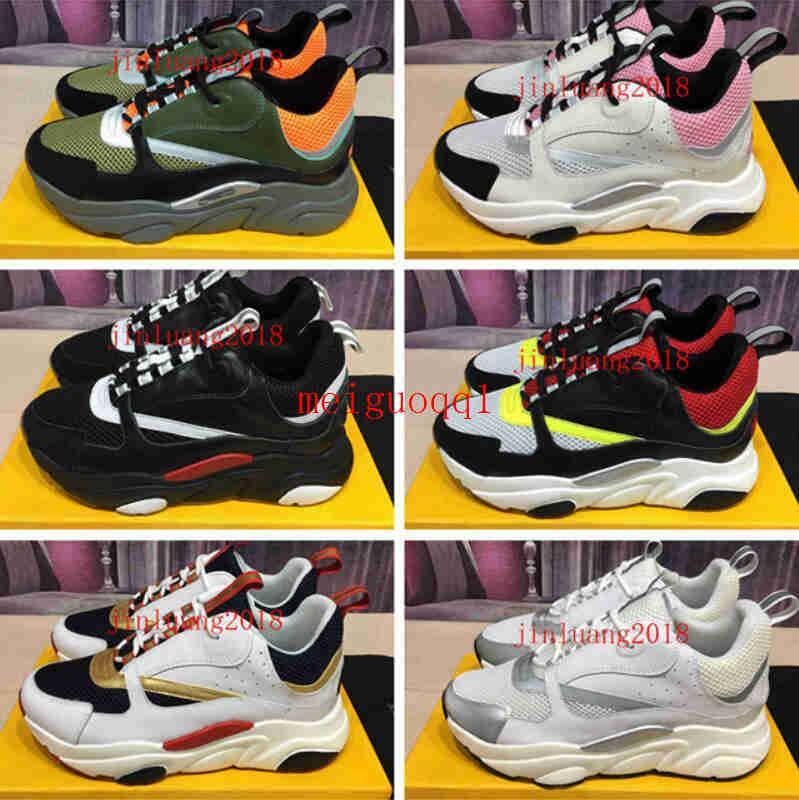 2021 الأحذية التريكو التقنية وصول B22 أحذية رياضية مصمم الأزياء قماش calfskin سنيكرزالإعلامية الرجال عارضة الحذاء الفاخرة 35-46