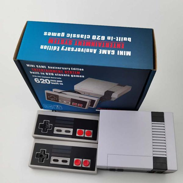Mini TV can store 620 500 Game Console Video Handheld for NES games consoles with retail boxs