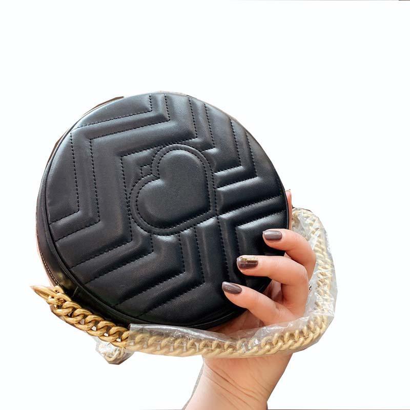 2021 Mini Mini Sac Messenger Épaule ronde Multi-Couleur En Cuir en option Ensole Porte-monnaie en métal
