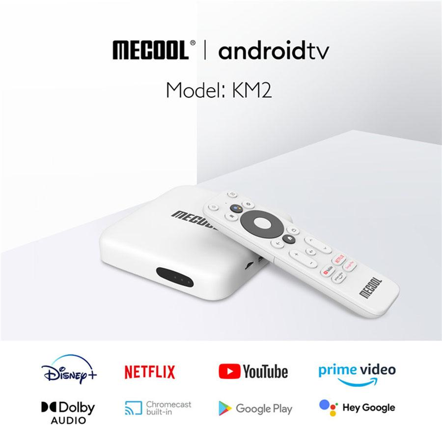 Original mecool KM2 TV BOX Android set-top boxes 4K HDR Network player Optional plug type free DHL