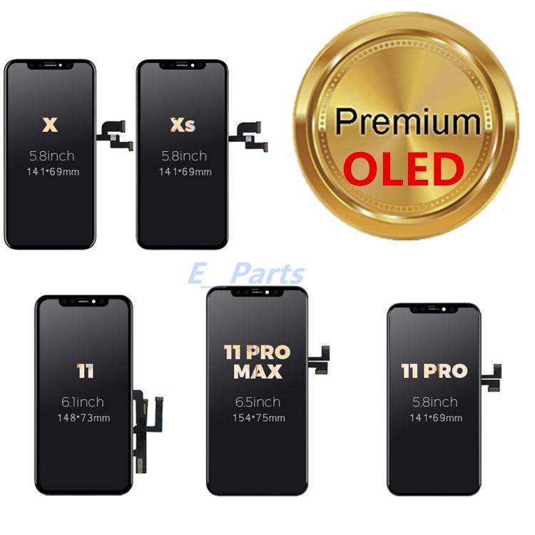 OLED LCD الهاتف الخليوي اللمس لوحات ل فون x xs ماكس 11 XR 11Pro عرض محول الأرقام الجمعية إصلاح أجزاء إصلاح أجزاء من DH