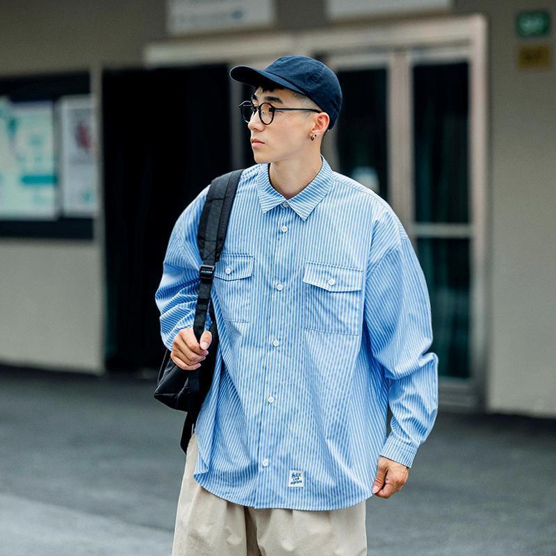 Camisas Casuales para Hombres Diseñador de moda Manga larga Harajuku Suave cómodo Camisa Social Masculina Camisa rayada BD50SS Hombre