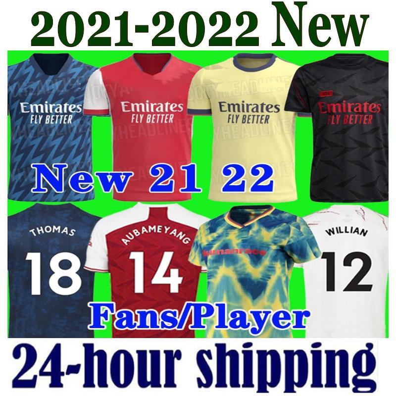 new season Arsen soccer jersey 2021 2022 Gunners ODEGAARD PEPE SAKA THOMAS WILLIAN TIERNEY 20 21 22 football shirts Men Kids