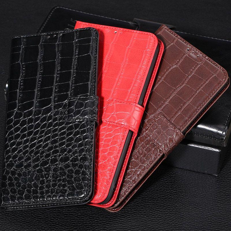 Cassa del telefono con portafoglio in pelle di coccodrillo in pelle per Xiaomi Redmi 7 7A 8 8A 9 9A 9AT 9C 9i Nota 4 4x 5 5A 6 7 8 8T 9 9S 9T 10 10S PRO 5G