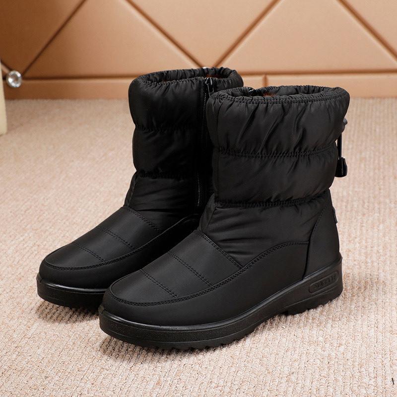 Boots Women Warm Snow Furry Plush Ladies Ankle Female Short Boot Comfortable Women's Shoes Soft Casual Fashion Zipper