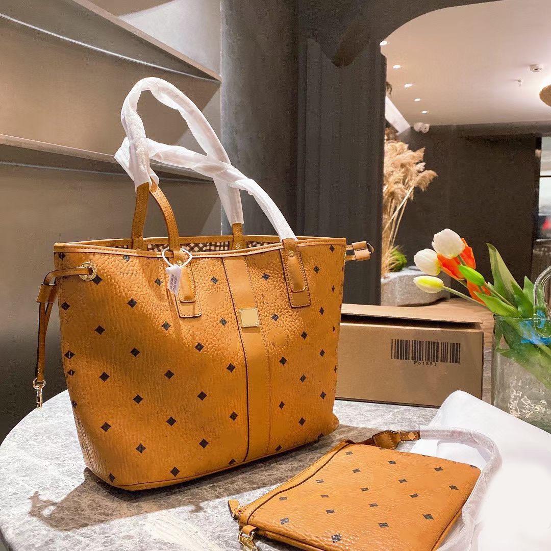 Klassische Übergroße Tragetasche Handtaschen Luxus Designer Rosa Sugao Frauen Schulter Hohe Qualität Brief Drucken Leder Dame Geldbörse Große Handtaschen 2 teile / Set viele Stile