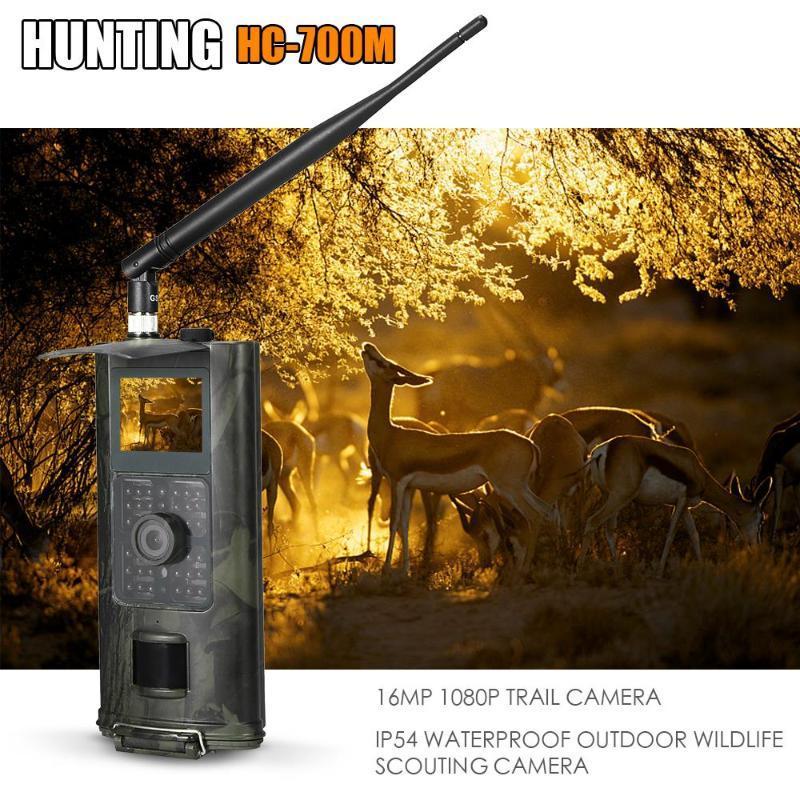HC-700M 16MP 2 / 3G SMS 사냥 카메라 야외 트레일 야생 동물 스카우트 PO 트랩 PIR 적외선 야생 C 카메라