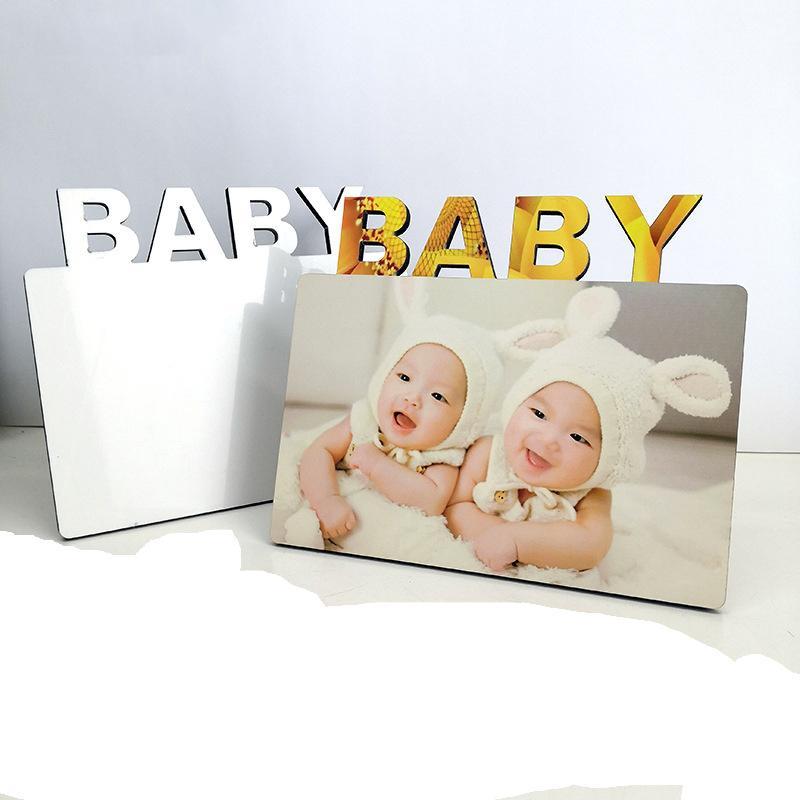 Sublimação Foto em branco moldura ornamentos diy transferência de calor álbum criatividade decoração desktop bebê aniversário lua cheia presente