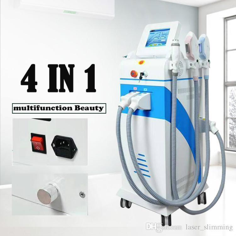 Çok İşlevli Güçlü Enerji Opt SHR IPL Lazer Epilasyon ND YAG Lazer Dövme Temizleme Güzellik Makinesi
