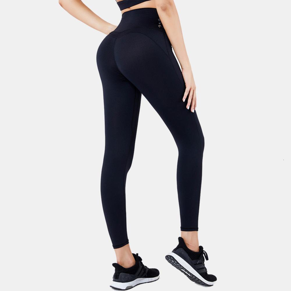 y otoño mujeres chándales de invierno deportes aptitud fitness pantalones de yoga flejando la cintura alta, el levantamiento de las nalgas, la sensación desnuda de la moda hermética capris