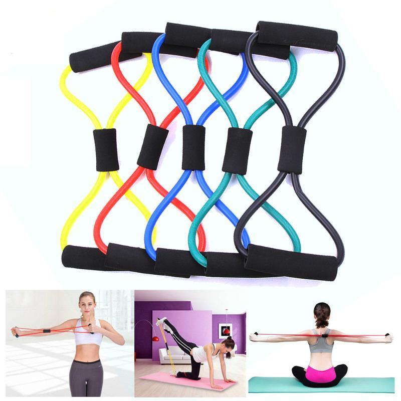 Kelime Fitness Halat Direnç Bantları Kauçuk Elastik Bant Ekipmanları Genişletici Egzersiz Spor Salonu Egzersiz Tren