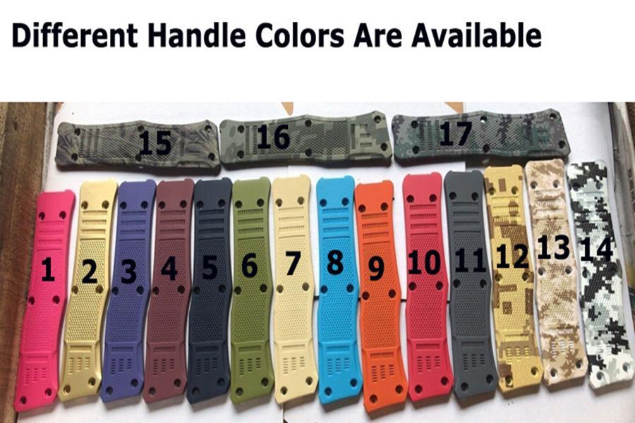 Высокое качество Черный автоматический тактический нож 440C стальной лезвие Zn-Al сплав с нейлоновой сумкой, предлагают различные ручки цвета и стили лезвия