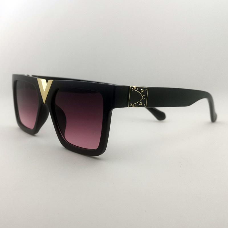 Mode Vintage Sonnenbrille Frauen Sonnenbrille Top Qualität Okchiali da Sole di Lusso Square Schwarz Millionär Sonnenbrille Hohe Qualität Gläser