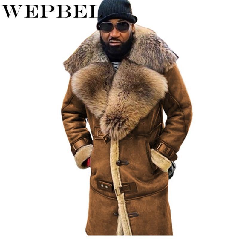 Cappotto di pelliccia sintetica Inverno Addensare Addensare caldi Cappotti di shearling caldo Giacca Uomo Cappotto a maniche lunghe Collare Casual Suede Suede Outiszed Outwear Outwear Uomo Miscele di lana da uomo