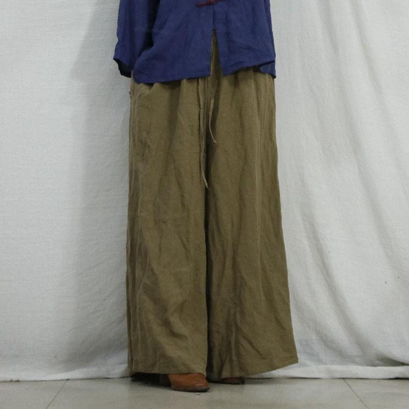 Johnature outono inverno pleno comprimento elástico cintura solta larga calças de perna simples confortável 3 cores mulheres lazer calças 210521