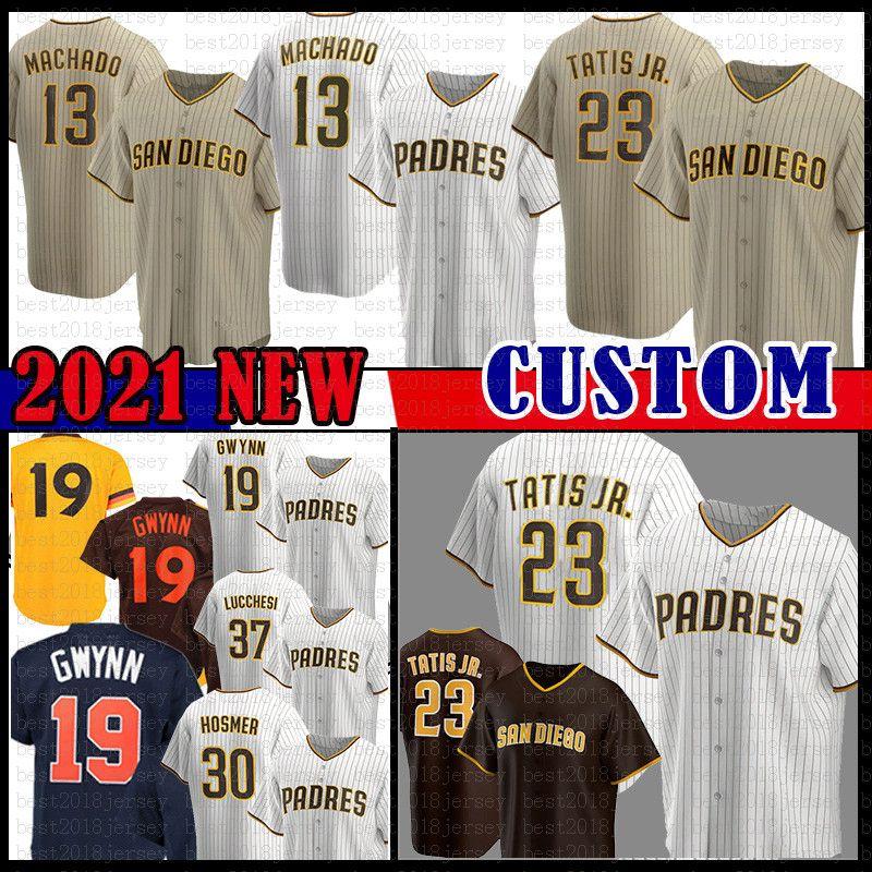 23 Fernando Tatis Jr. San Custom Diego Beyzbol Forması 13 Manny Machado Tony Gwynn Eric Hosmer Wil Meyers Trevor Hoffman Wil Myersyu Darvish