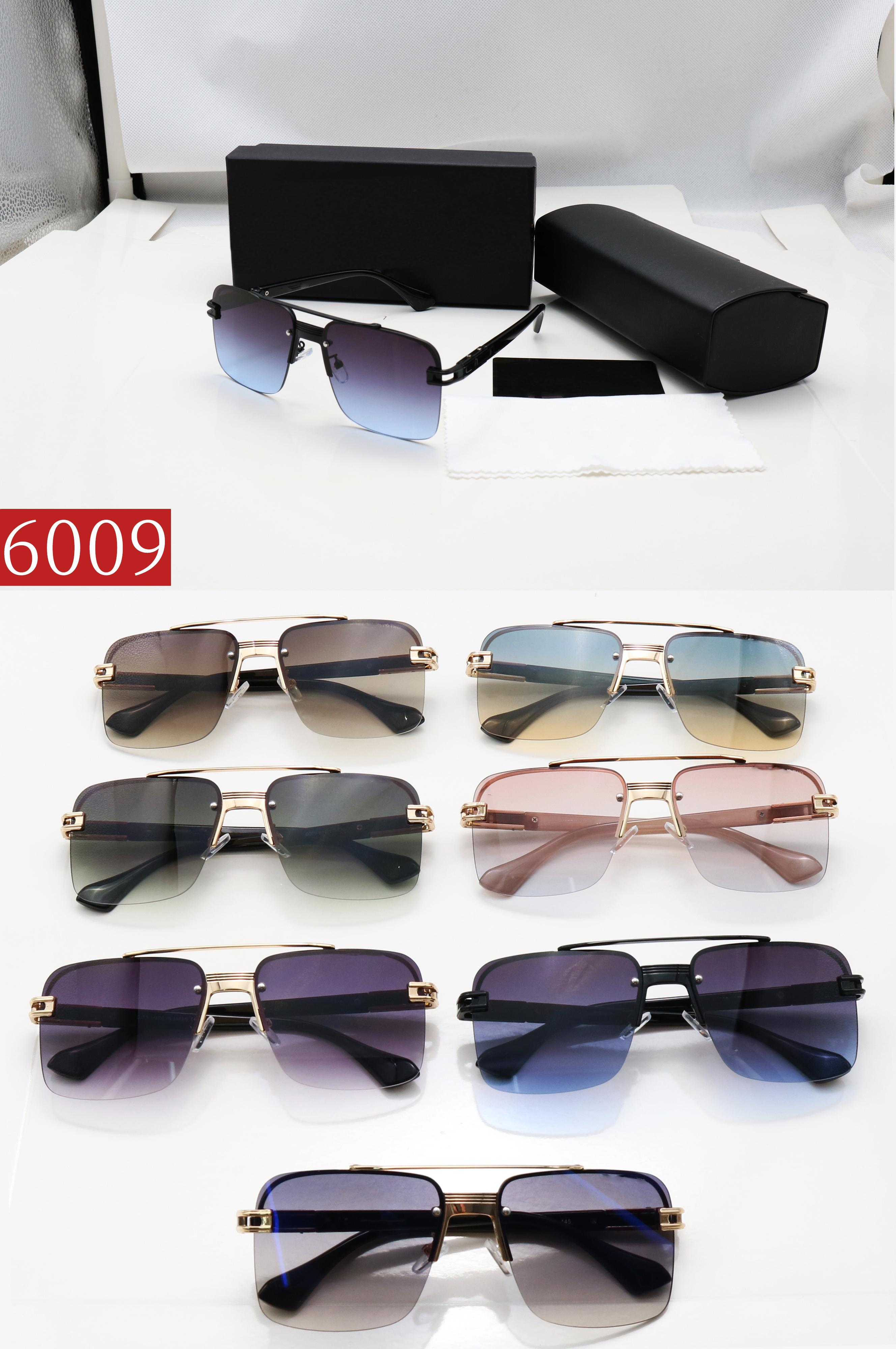 Großhandel Top Hohe Qualität 7 Arten von Stil Mode Männer Frauen Sonnenbrille Sonderbrille Anti UV UV400 Retro Gradient Farbobjektiv Sonnenbrille Geschenke
