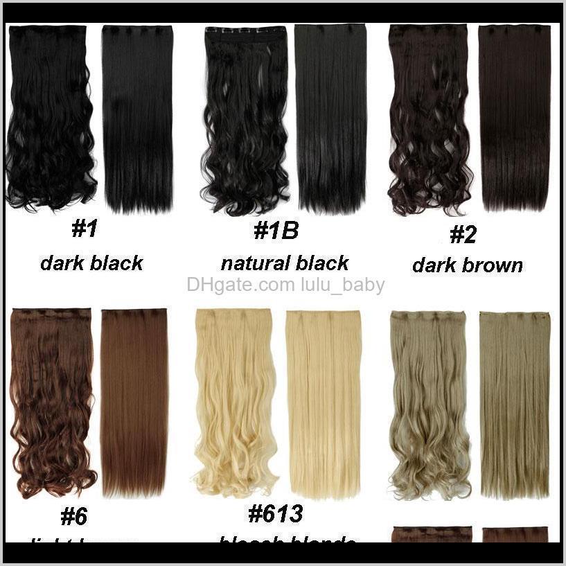 Stücke 1828 langer Clip in Erweiterungen synthetisch 100 echte natürliche Haarwiederläufe 34 Vollkopf 1 Stück schwarz braun 162jp gu8yu