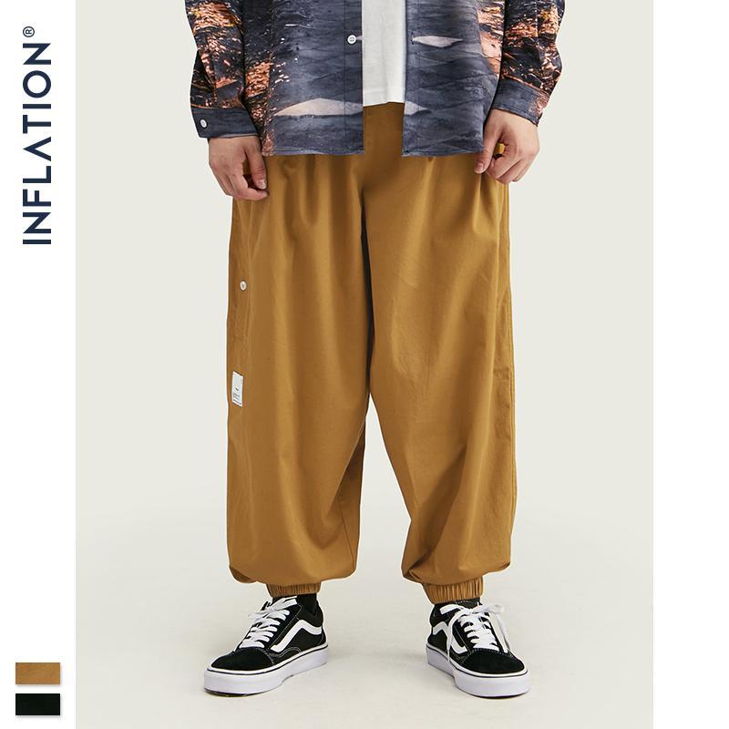 Inflation Automne Men Streetwear Jogger Design Pantalons Design Lâche Pantalon Baggy Cargo Couleur Pure Fit Ladge Hommes Lâche Hommes 93447W VBJDC