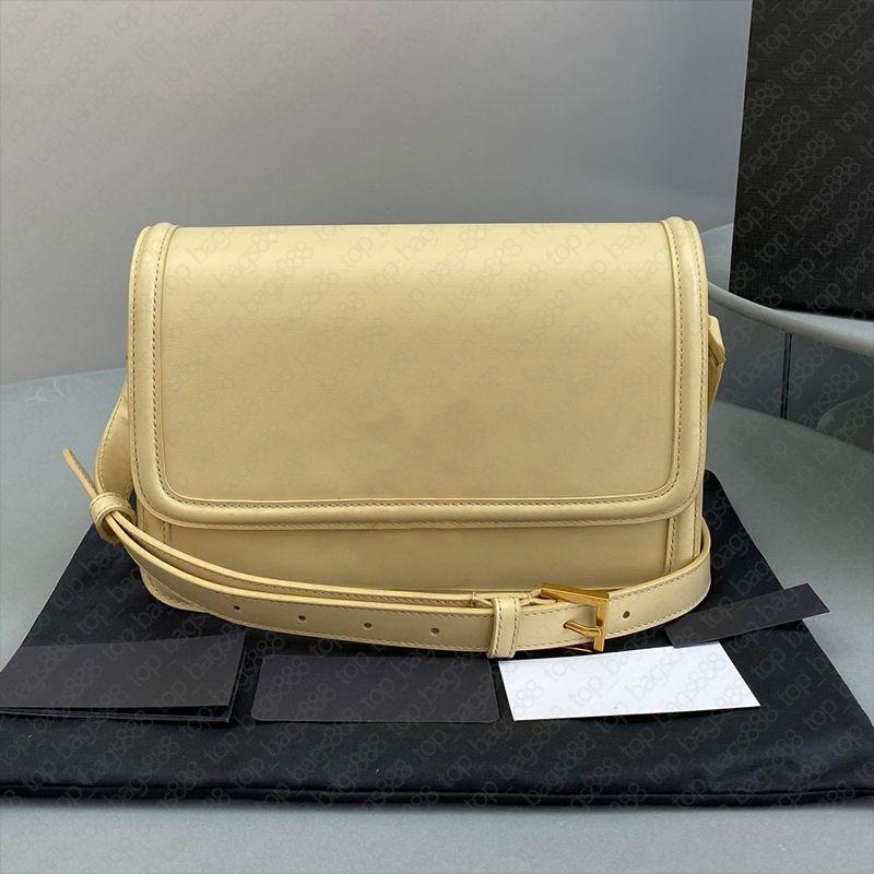 Luxus Designer Marke Box Bag Plain Gold Metall Logo Schloss Button 2 Größen Echtes Leder Top Qualität Schulter Kreuz Körper Mode Taschen