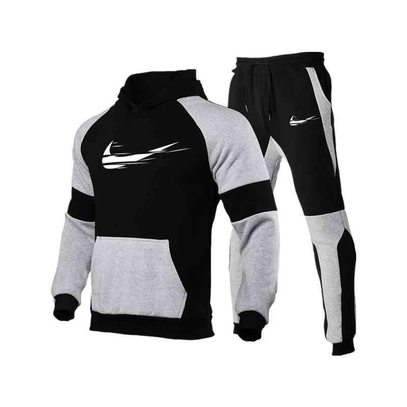New Men's Sports Pants Hoodie Suit Wear Hooded Shirt + Pullover Wear Casual Clothing
