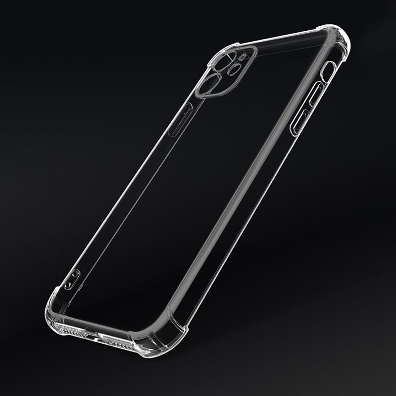 Transparent Phone Cases Case For iPhone 12 11 Pro MAX XS XR X 8 Plus 6s 7plus 5s Anti-fall TPU Protective Shockproof Clear Cover