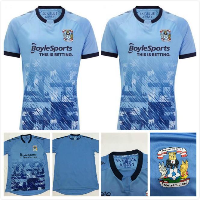 2021 Coventry City Futbol Formaları Biamou Bakayoko Godden Jobello Shipley Kelly Jones Allen Sheaf Özel 20 21 Ev Mavi Futbol Gömlek