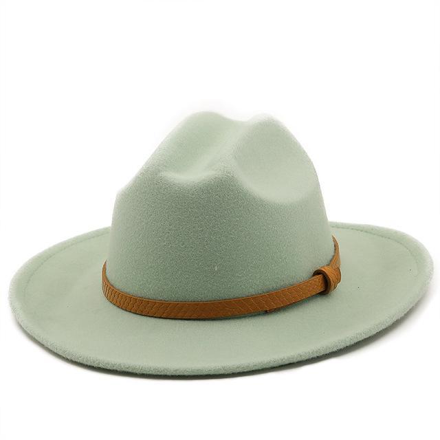 الخريف الشتاء البيج واسعة بريم الرجال القبعات اللباس الرسمي فستان فيدورا قبعة للنساء بنما شعر جاز كاب sombreros دي موهير