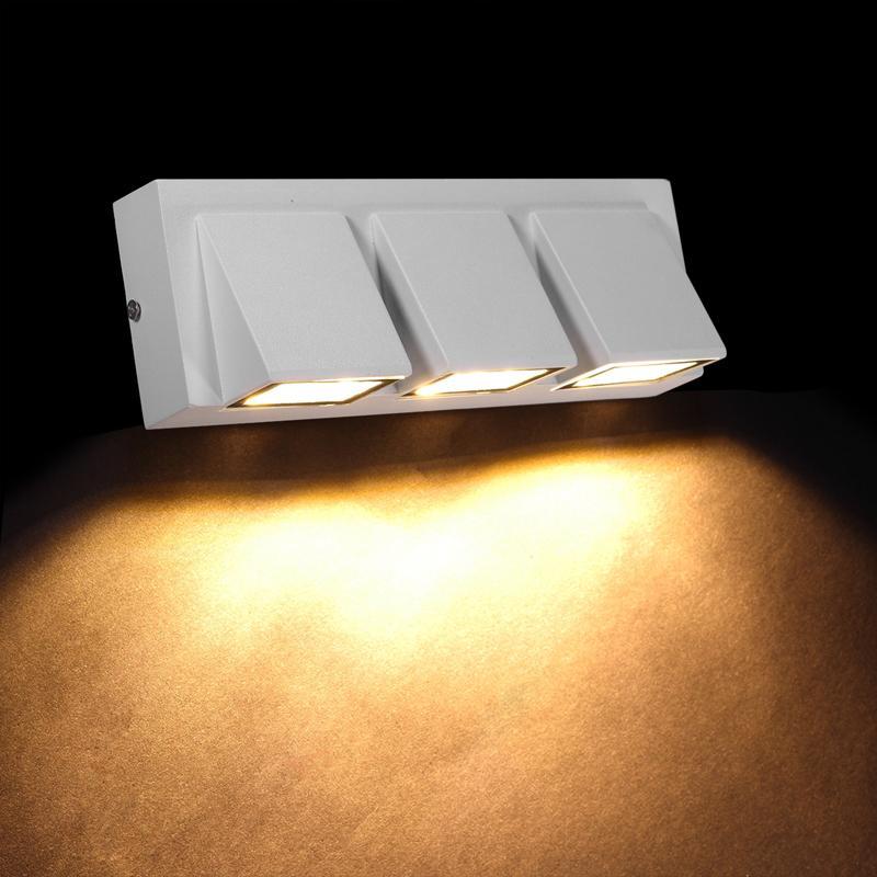 Lâmpada de parede impermeável do LED criativo simples 5W / 3 x 5W luz de parede interior ao ar livre para o terraço do pátio da porta iluminação do jardim da varanda