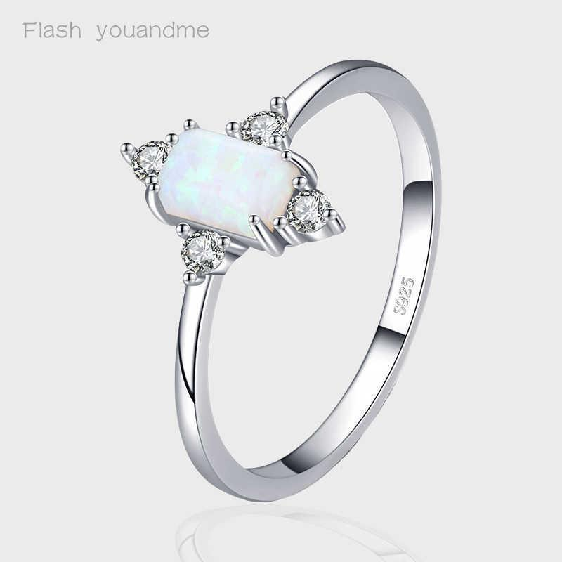 Real 925 Sterling Silver Rings For Women Shining Crown Opal Finger Ring Classic Luxury Wedding Statement Jewelry Anel Y0723