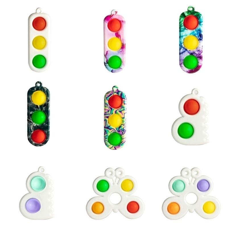 Push Pop Finger Bubble Poppers Sensory Toy Llaveros Llaveros Fidget Pads Simple Tik Tok Toy Toys Llavero Discompression Llavero Titular H48Y18K